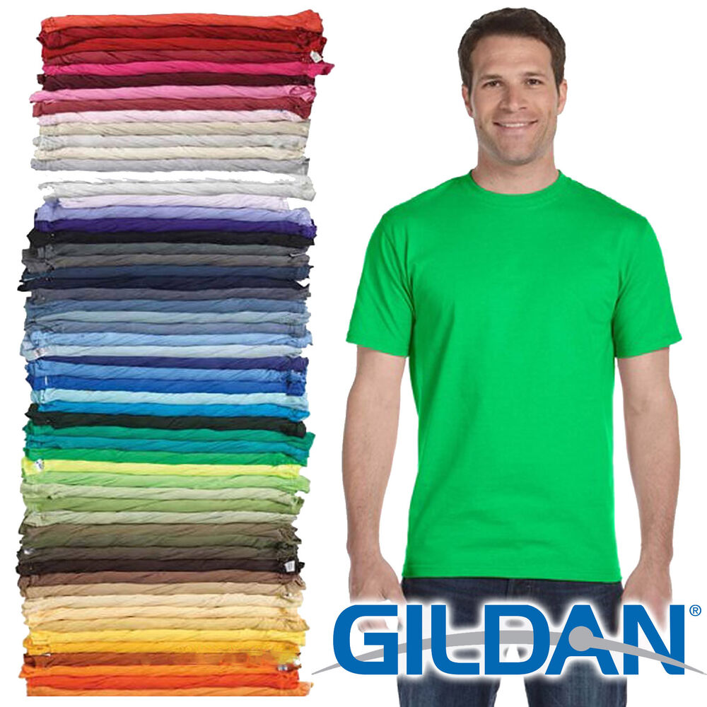 100 gildan t shirt blank bulk lot colors 50 mix match