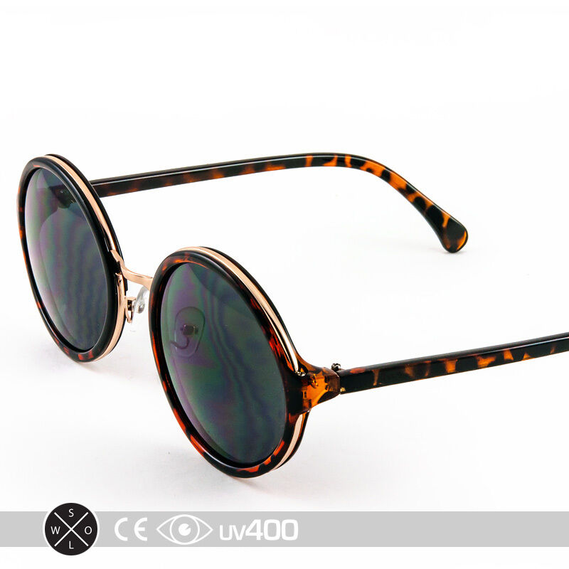 Round Circle Frame Sunglasses Gold Framed Glasses Classic ...