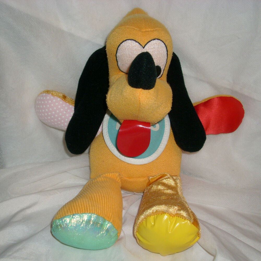 VINTAGE 1990 MATTEL PLUTO DISNEY STUFFED ANIMAL PLUSH TOY ...