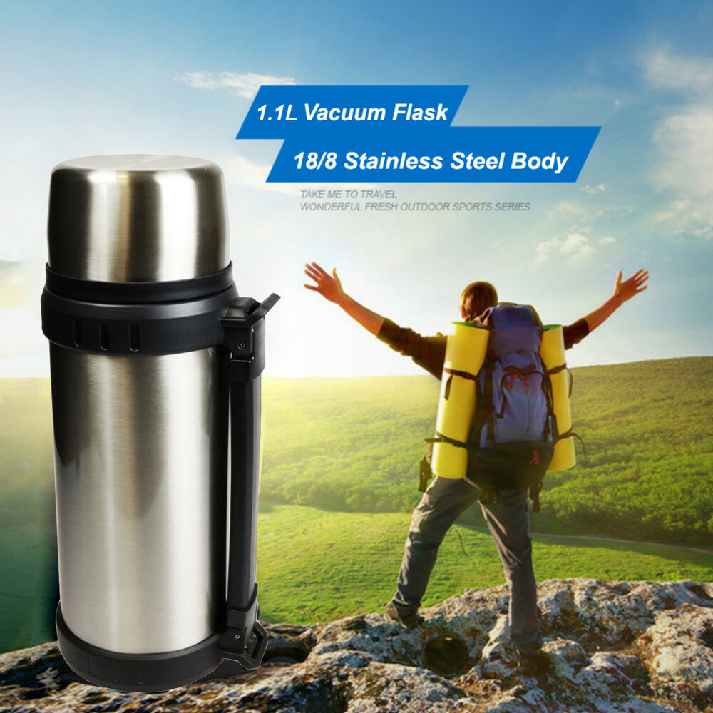 1.0L 18/8 Stainless Steel Vacuum Flask, thermos / Keep hot ...