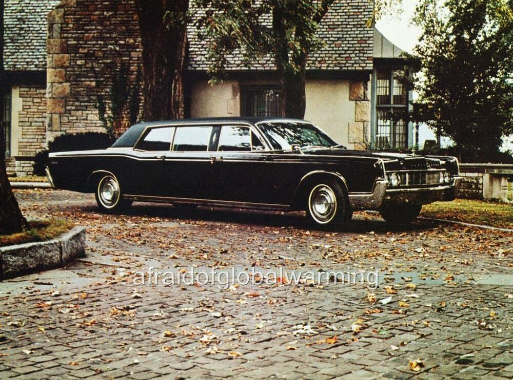 Old Photo Black 1967 Lincoln Continental Executive