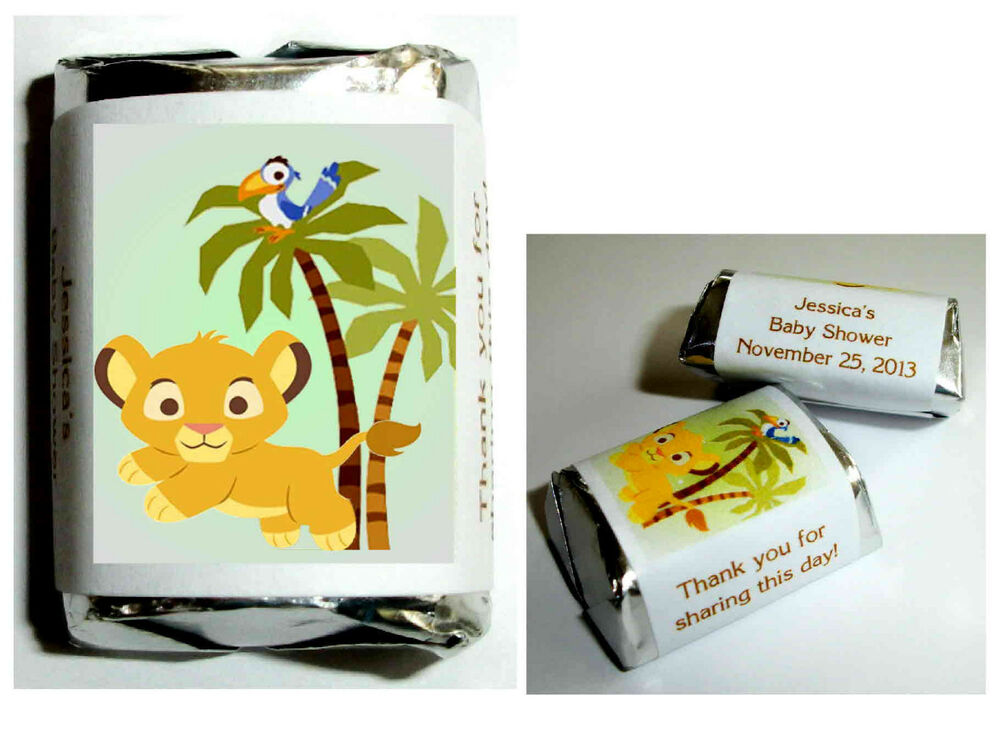 120 baby simba lion king baby shower candy wrappers labels favors