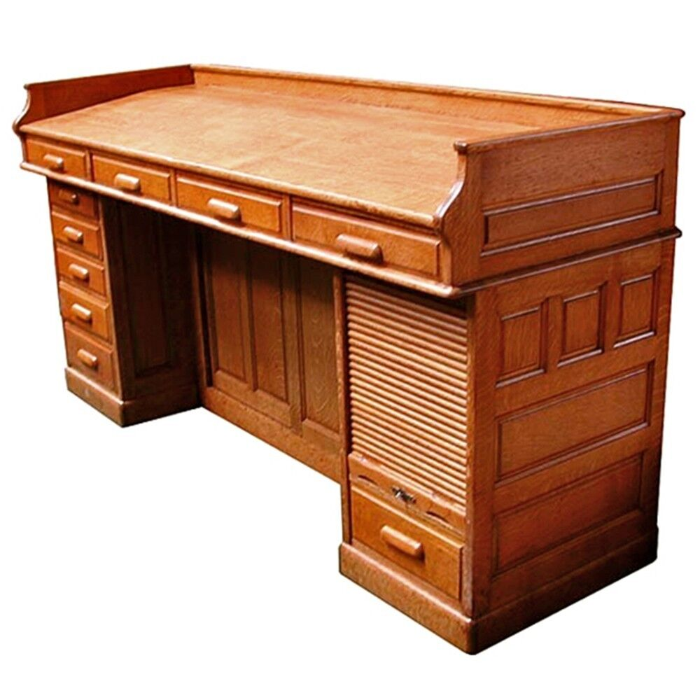 antique oak american architect 39 s desk circa 1890 4839 ebay. Black Bedroom Furniture Sets. Home Design Ideas