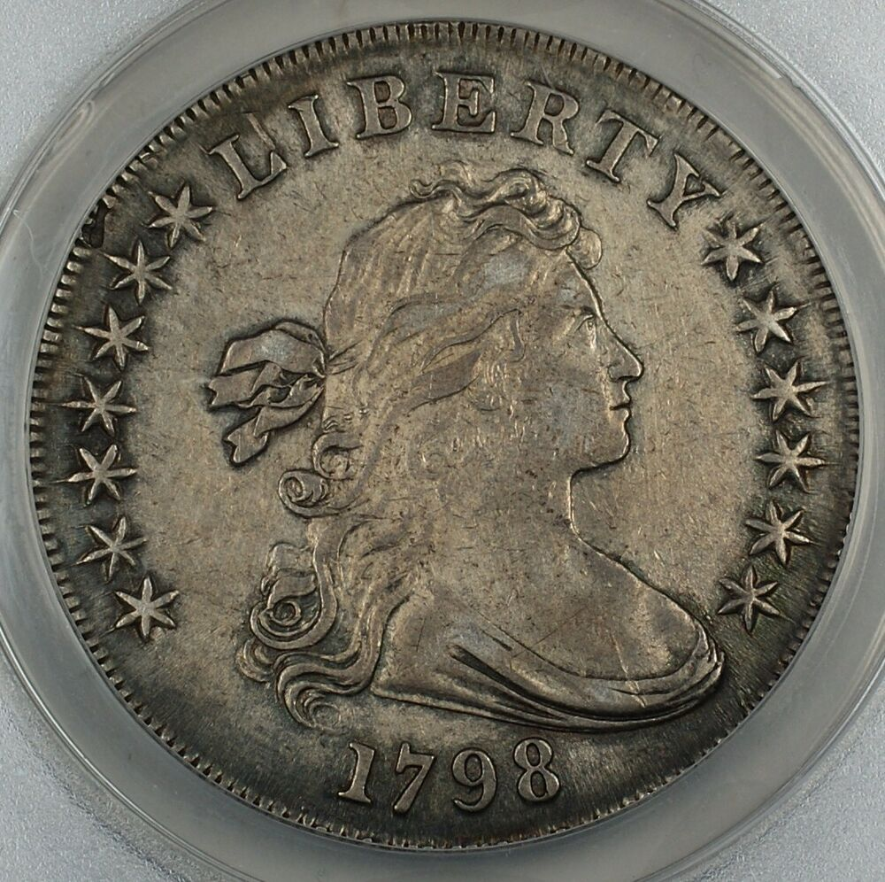 1798 Draped Bust Silver Dollar W Large Eagle Bb 108 B