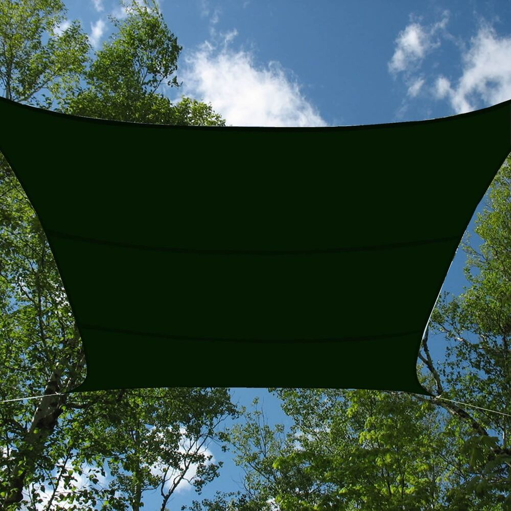 forest green mesh sun shade sail canopy cover 12x12 ft outdoor patio cover outdoor patio furniture covers sale