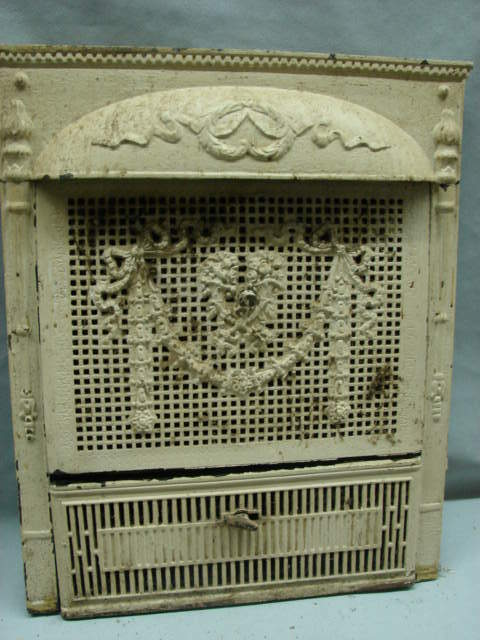 Antique Late 1800 S Cast Iron Ornate Gas Fireplace Insert