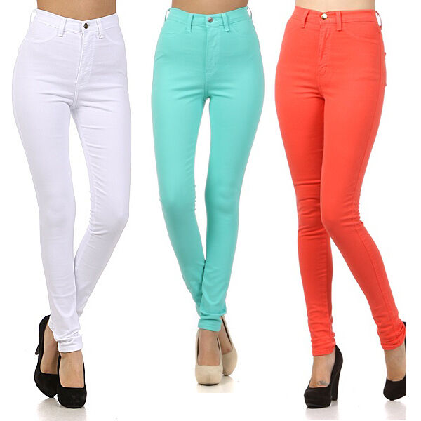 New! High Waist Hot Fashion Trends Skinny Jean Pants Size1