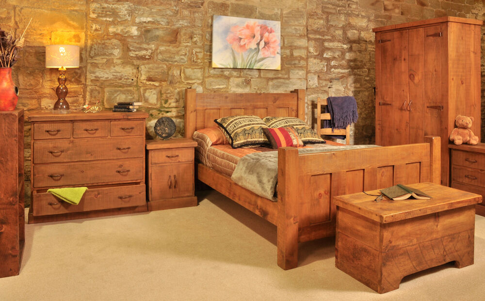 rustic plank bedroom furniture | chest of drawers