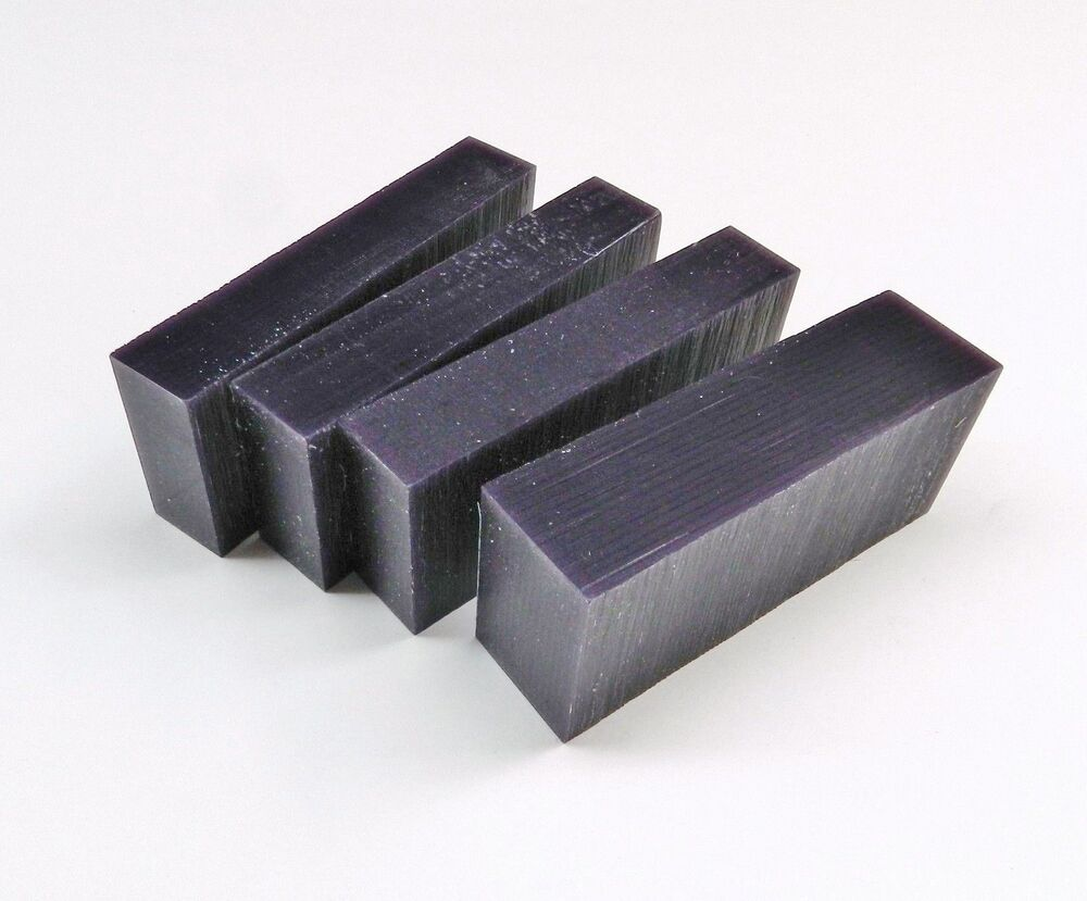 Carving wax blocks purple medium grade jewelry model