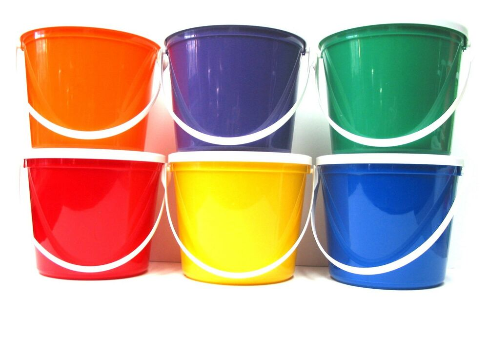 6 80 Oz Plastic Buckets Lids Food Safe Containers Mfg Usa