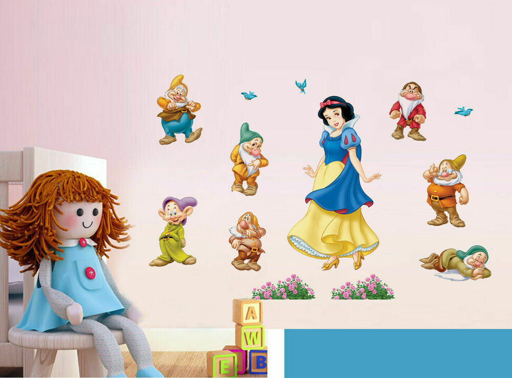 Disney princess snow white wall sticker kids room nursery for Disney princess mural stickers