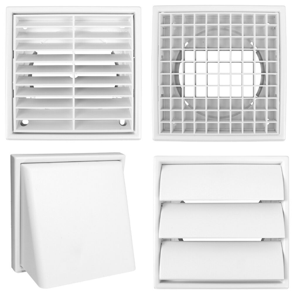 Quality White Square 100mm 4 Quot Grille Ducting Air Vent