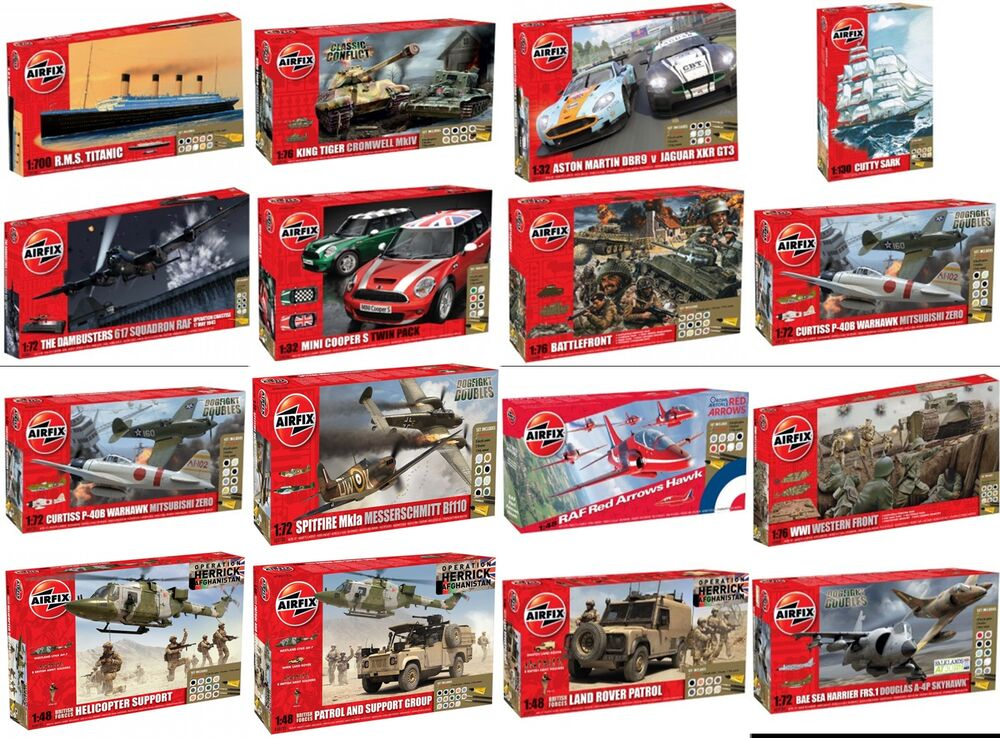 AIRFIX Kit Gift Sets In Various Cars Ships Military Planes