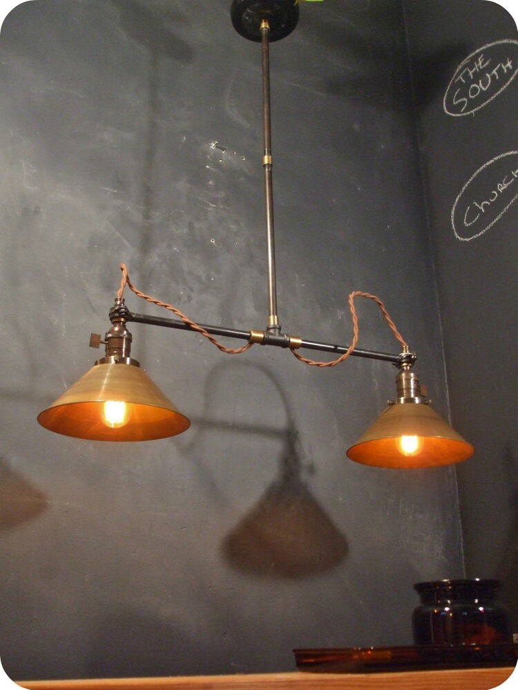 Vintage Industrial Double Shade Ceiling Sconce Machine