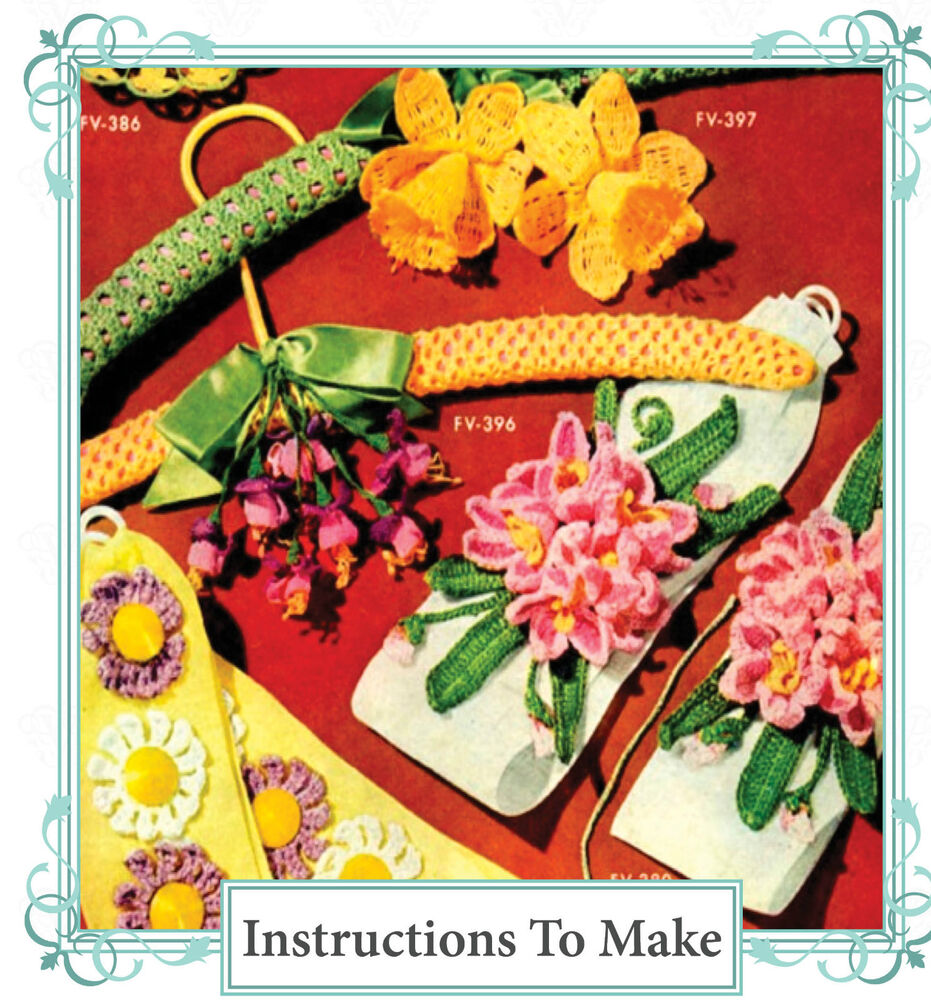 Vintage Crochet pattern-How to make vintage crochet flowers-daffodil ...