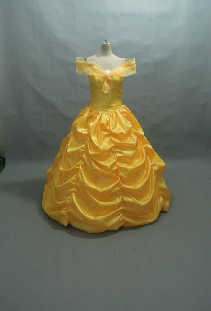Disney Dress Beauty And Beast Belle Costume Adult SIZE 6,8