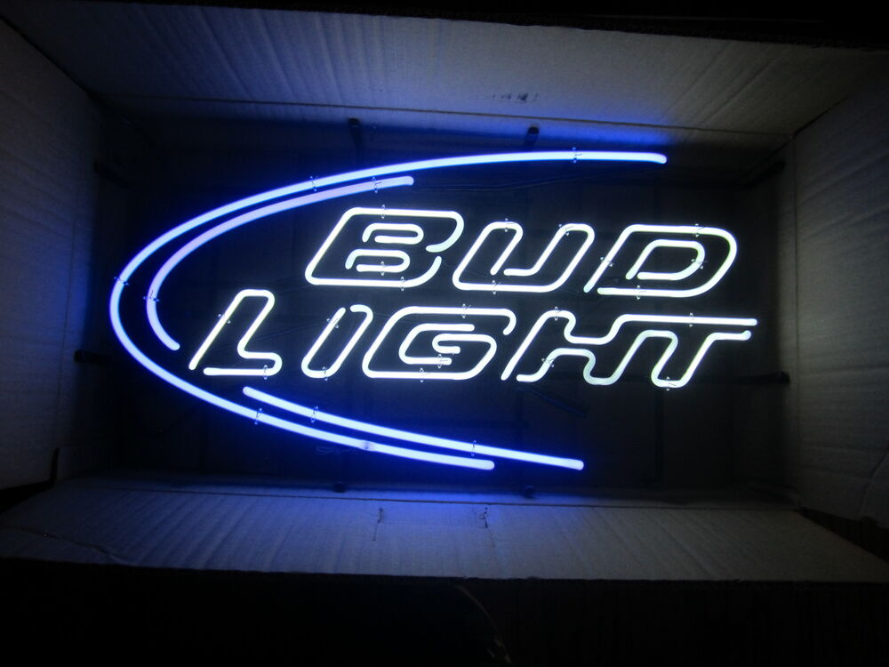 Bud Light Iconic Neon beer bar sign Man Cave Budweiser