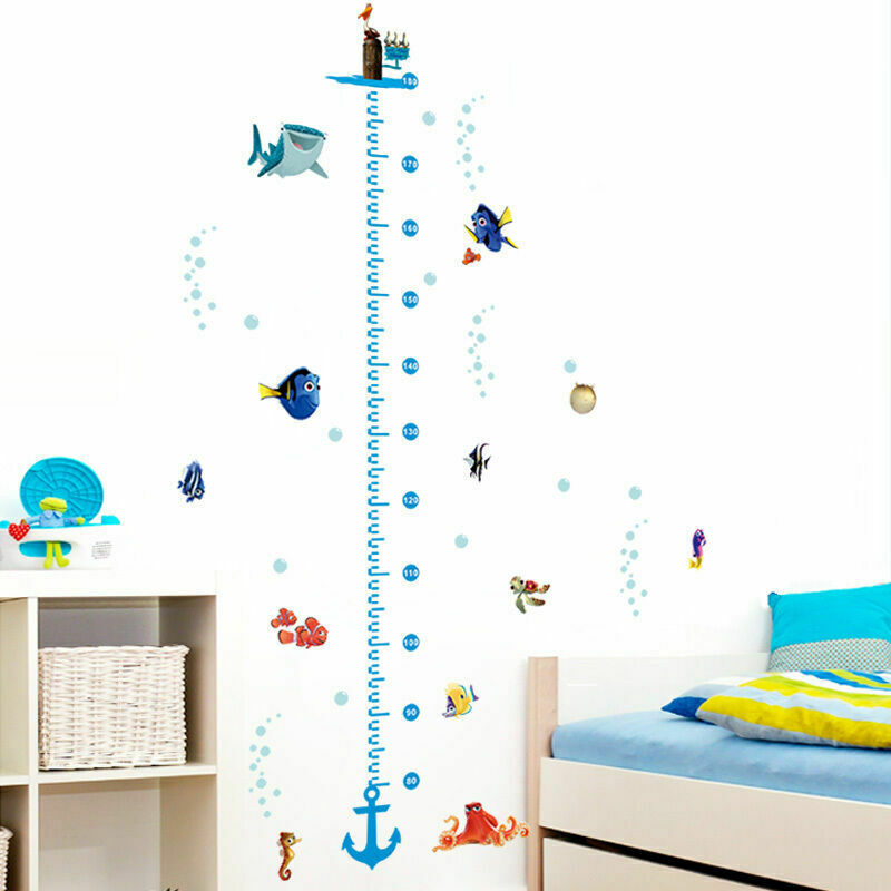 Finding Nemo Height Chart Wall Stickers Kids Boys Nursery