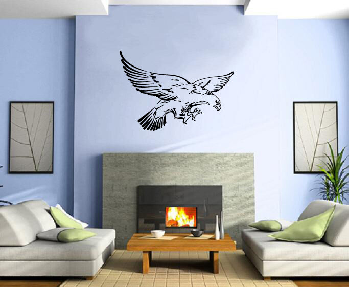 Flying eagle wings american symbol decor wall mural vinyl for Eagle wall mural