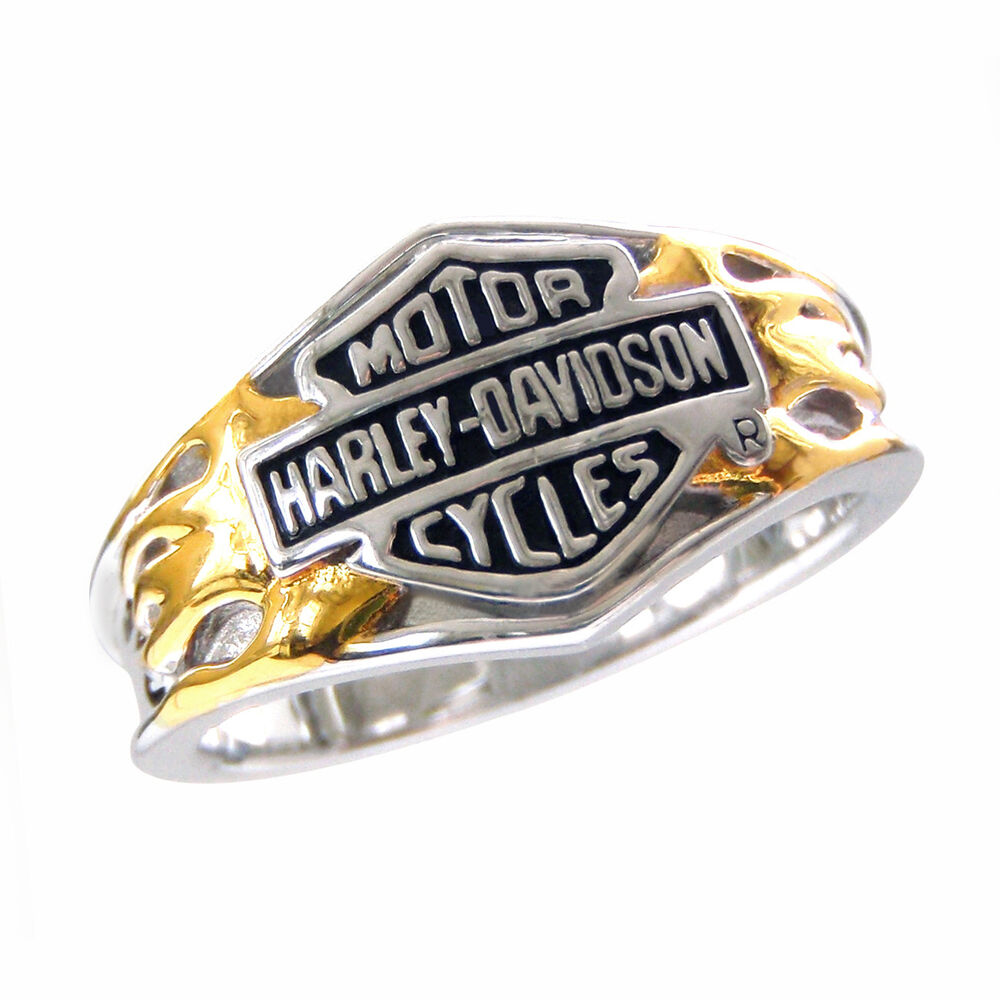 Harley davidson ladies sterling silver classic logo ring for Harley davidson jewelry ebay