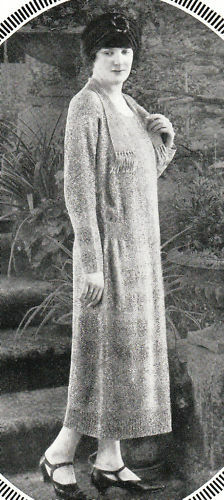 Vintage very old early 1920s ladies dress knitting pattern ...