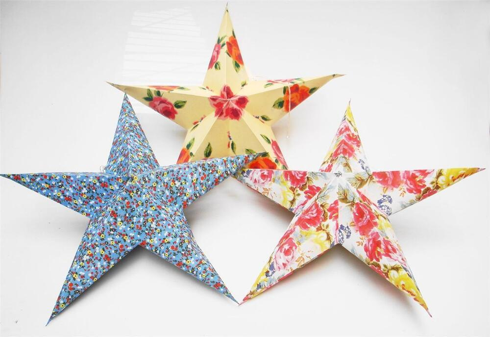 75cm multi colour star recycled paper lantern teenage for Recycled paper lantern