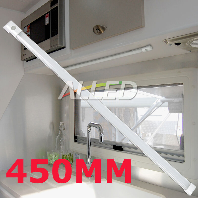12v Led Under Cabinet Counter Strip Light Rv Camper: 12V 450MM LED Strip Light Switch Caravan/Bar/Cabinet/RV