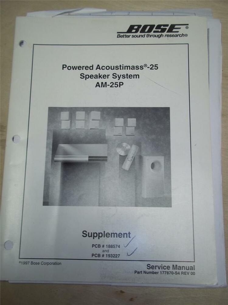 Bose Acoustimass Powered Subwoofer Installation H Manual Guide