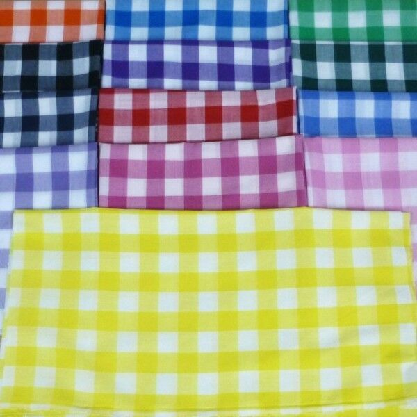 1 checked gingham polycotton fabric dress craft summer for Gingham fabric