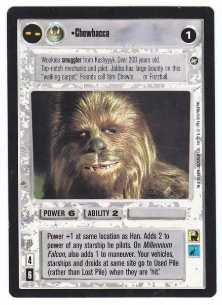 REFLECTIONS II star wars ccg Chewie With Blaster Rifle FOIL Near Mint/Mint