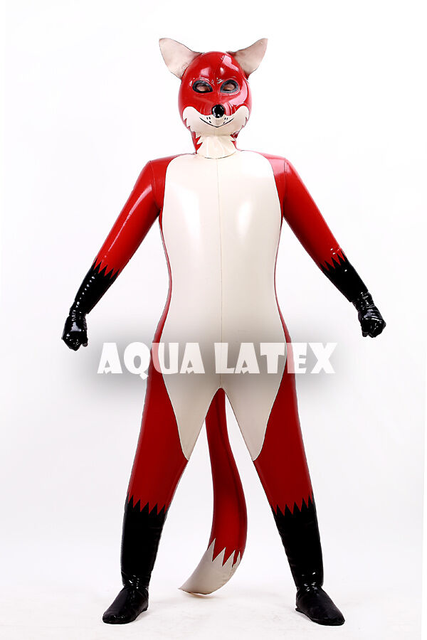 Inflatable latex suit