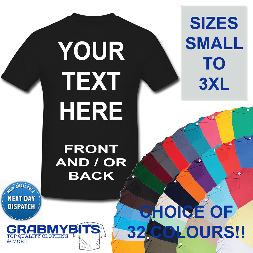 Custom Personalised Design Your Own T Shirts Stag Hen Holiday Mens Ebay