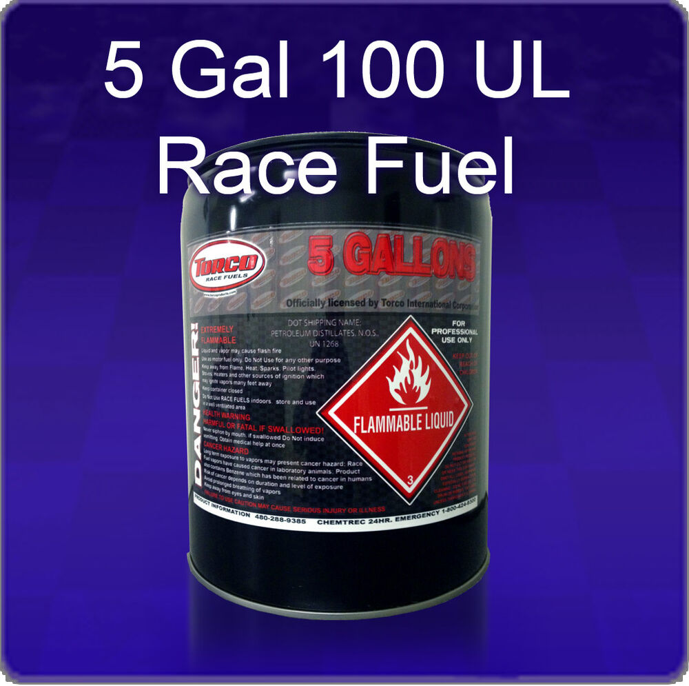Torco 100 UL Race Fuel 5 Gallon Pail 100 Octane Fuel ...