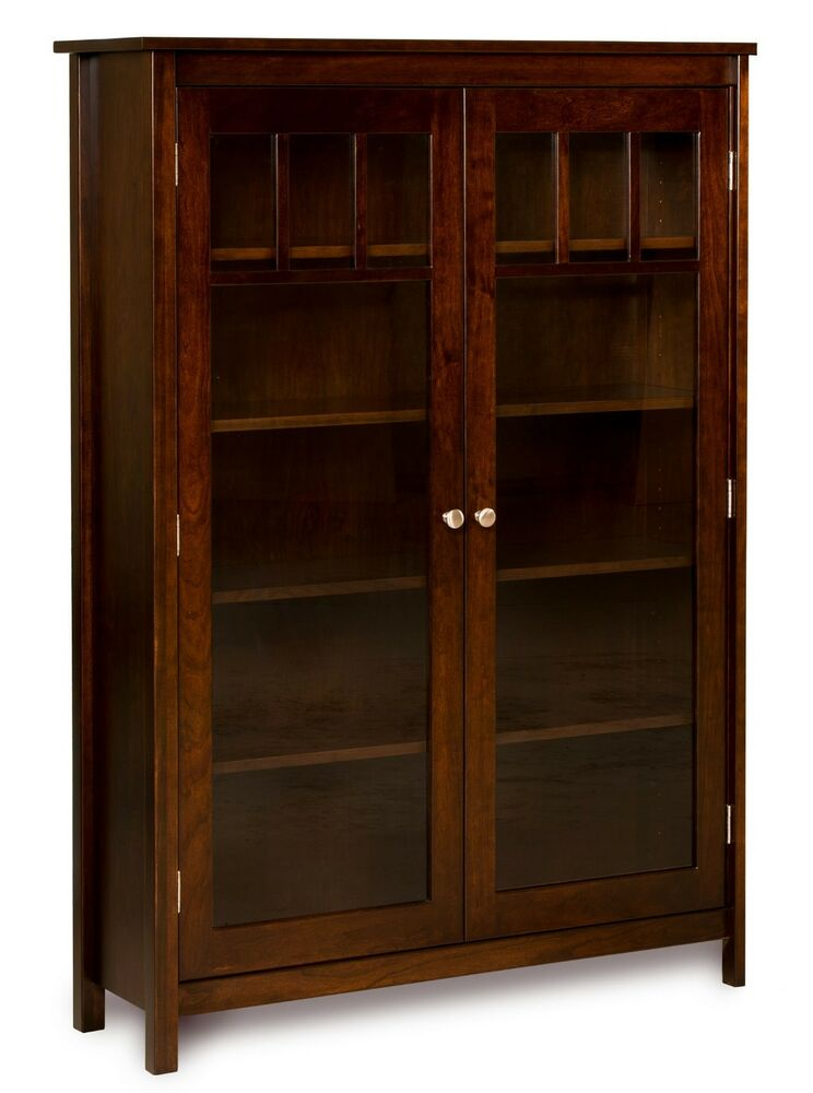 Amish bookshelf bookcase solid wood wooden furniture for Solid wood furniture