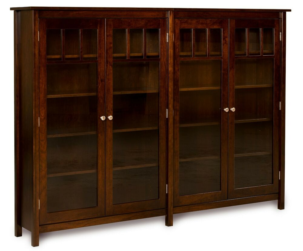 Amish bookshelf bookcase solid wood wooden furniture office kitchen double new ebay Wooden furniture pics