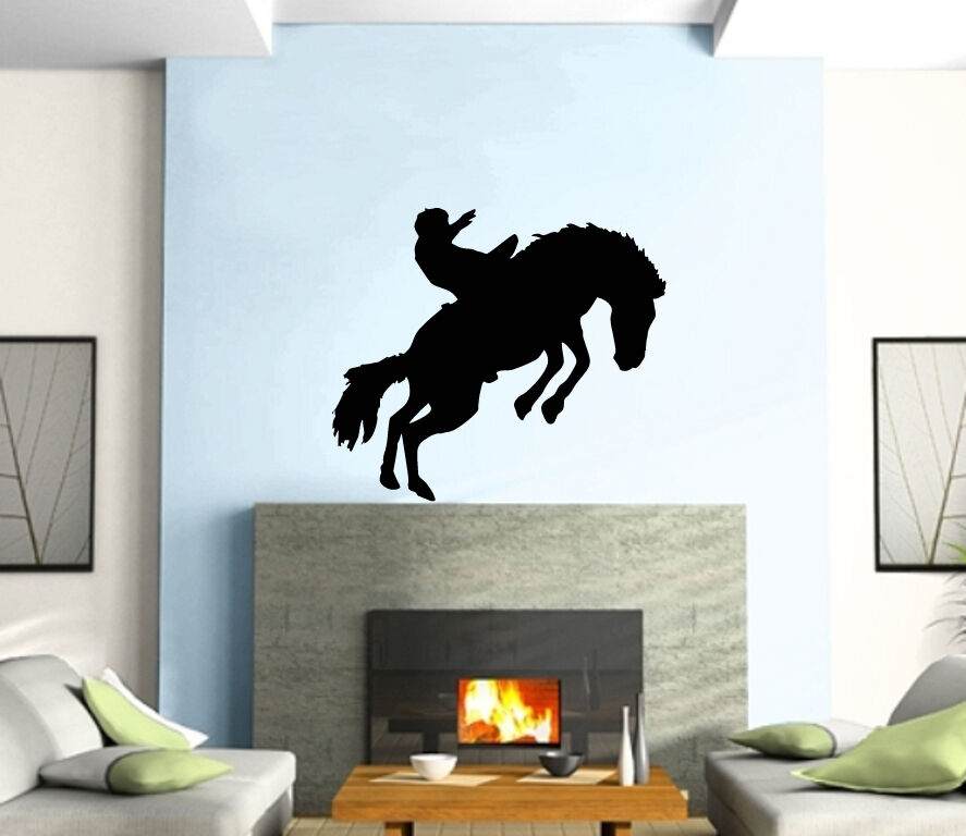 cowboy wild west western mural wall art decor vinyl