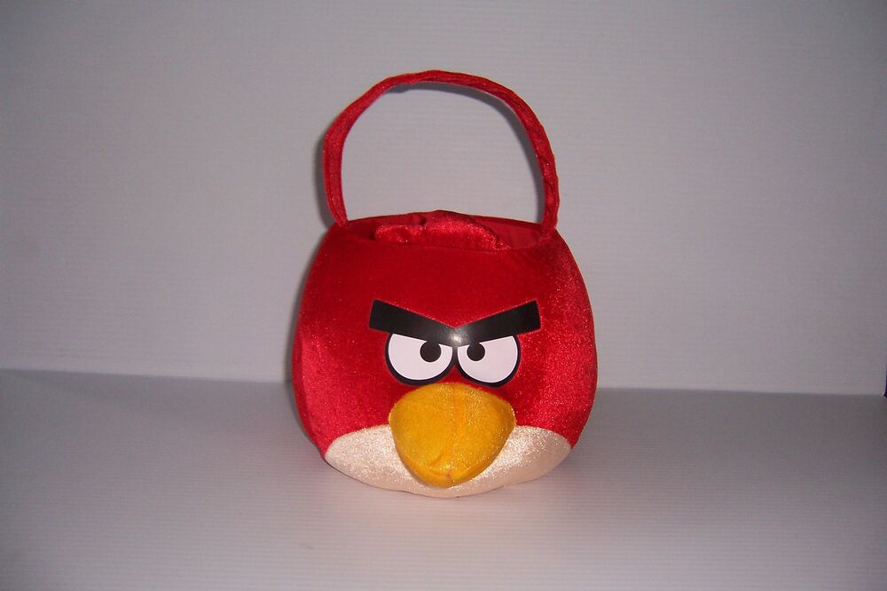 Angry birds red bird plush basket toy rovio licensed nwt ebay - Angry birds toys ebay ...
