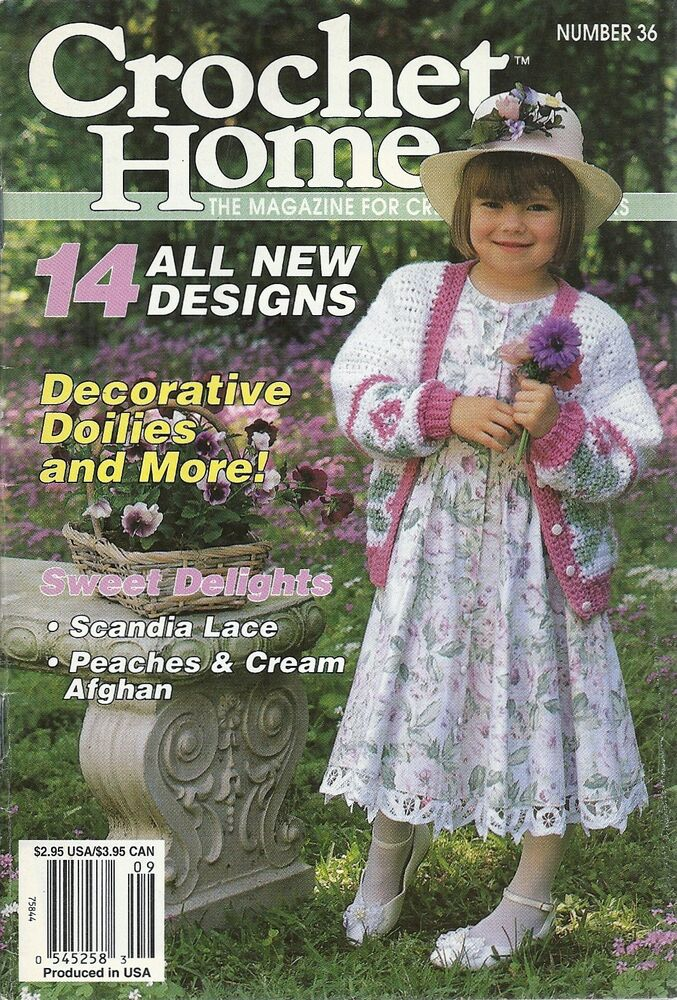 Crochet Magazines List : CROCHET HOME MAGAZINE BACK ISSUE #36 AUGUST/SEPTEMBER 1993 eBay