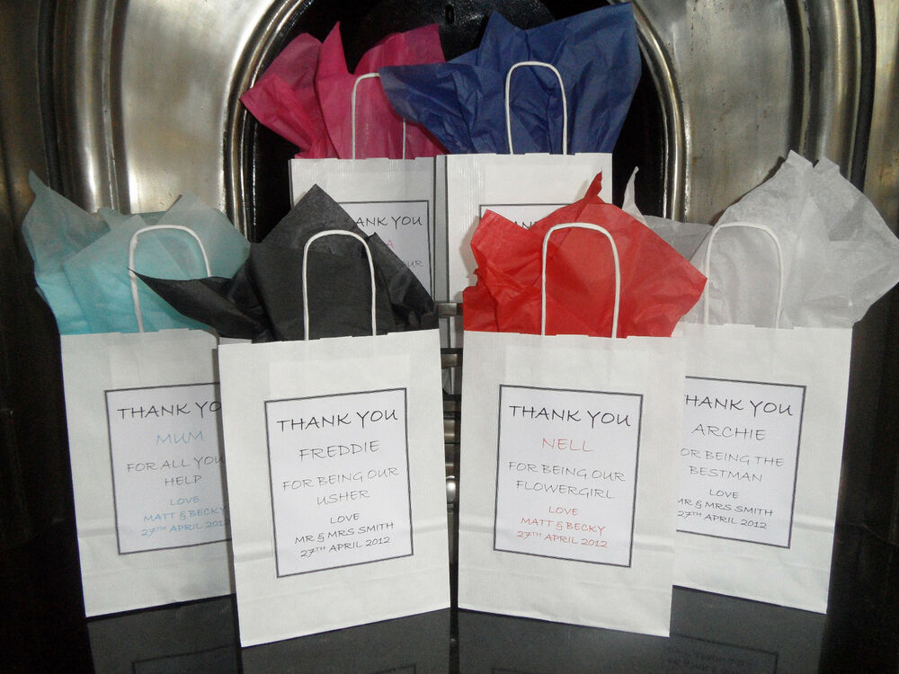Personalised Wedding Gift Bags Uk : ... Wedding Christening Favour Birthday Party Thank You Gift Bags eBay