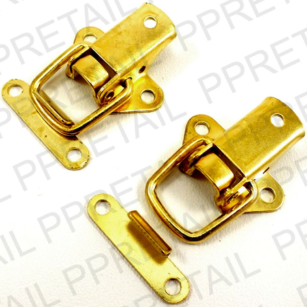 2 X Brass Toggle Case Catch Boxes Chest Trunk Tool Box