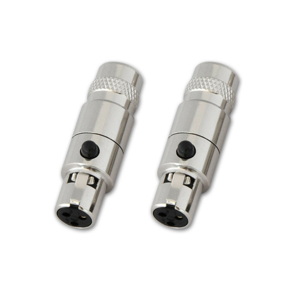2pcs Connector Mini Xlr 3 Pin Female Inline Socket