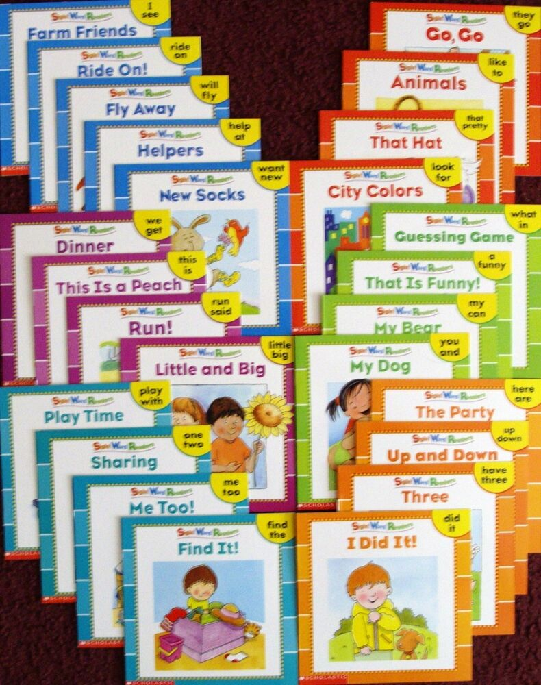 scholastic preschool 25 new illustrated sight word readers phonics teaching 444