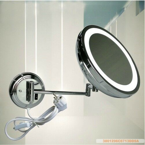 Magnifying Bathroom Led Lighted Wall Mounted Makeup Cosmetic Mirror Ebay