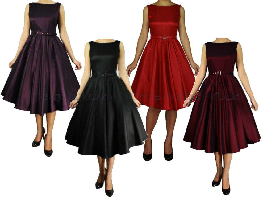 Rockabilly 50u0026#39;s Retro Swing Pinup Formal Vintage Evening Dress Size 8 - 28 Plus | EBay