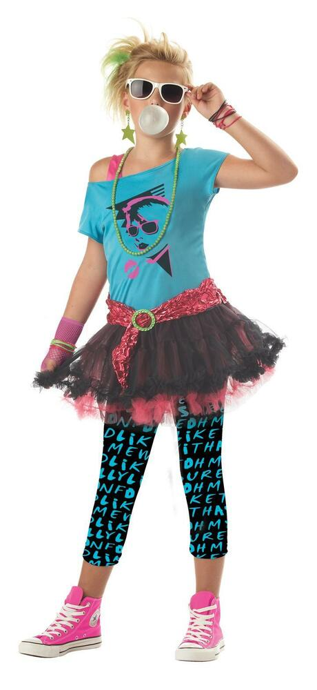 80's 80s Valley Girl Madonna Cyndi Lauper Tween Costume | eBay80s Clothes For Girls