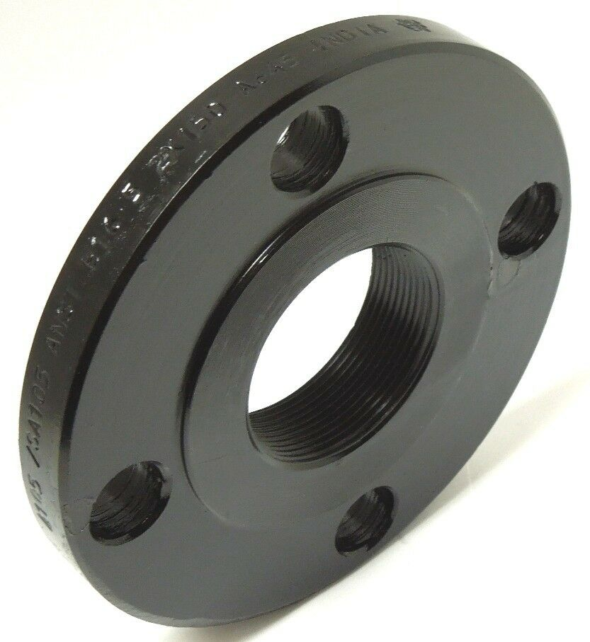 """THREADED FLANGE 2"""" 150 CLASS RAISED FACE CARBON STEEL A105"""