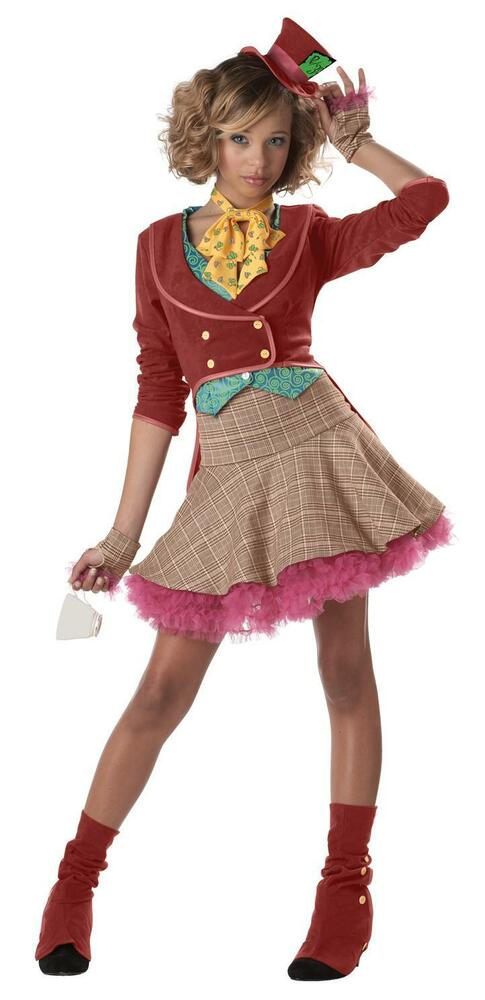 Mad Hatter Alice in Wonderland Teen Costume | eBay