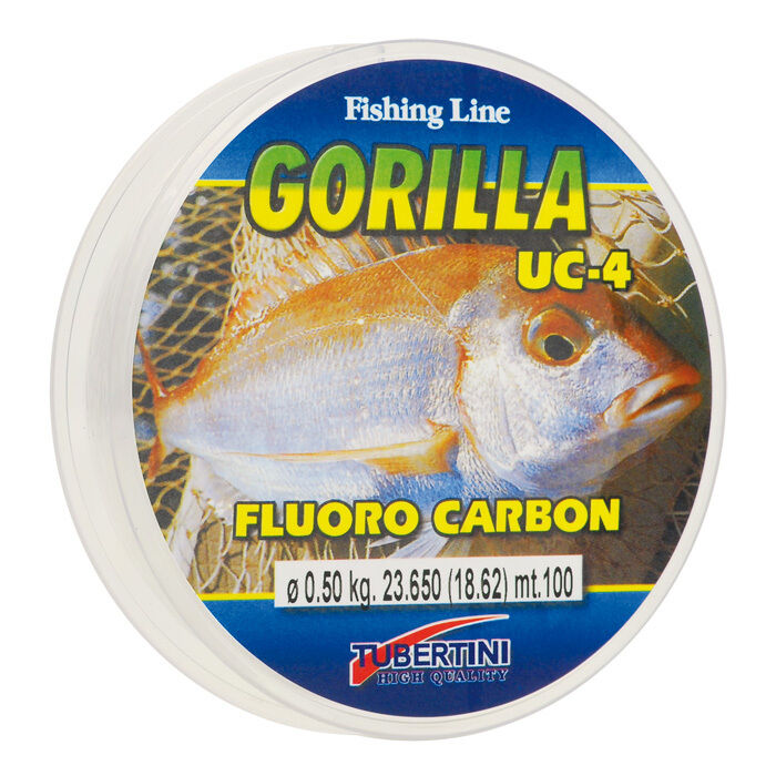 Tubertini gorilla uc 4 fluorocarbon fishing line ebay for Fluorocarbon fishing line