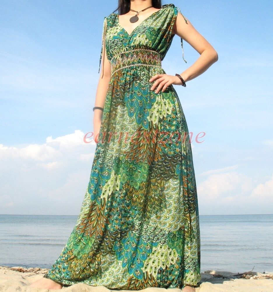 New evening party plus size peacock formal wedding long for Plus size maxi dresses for summer wedding