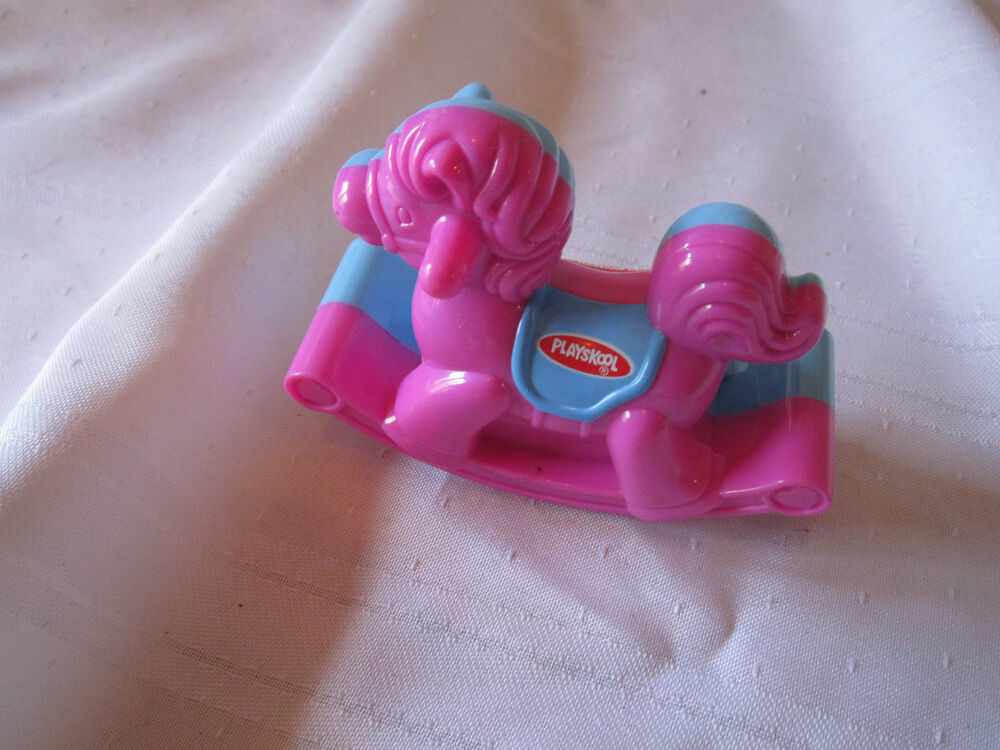 Playskool Toy Food : Playskool pink purple wendys rocking horse blue fast food